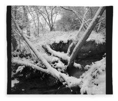 Snow Dusted Banks Fleece Blanket