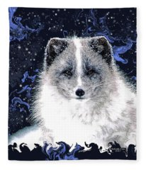Snow Fox Fleece Blanket