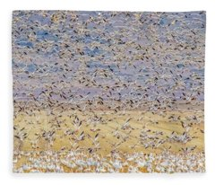 Snow Geese Take Off 3 Fleece Blanket