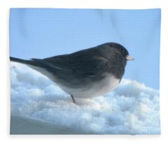 Snow Hopping #1 Fleece Blanket