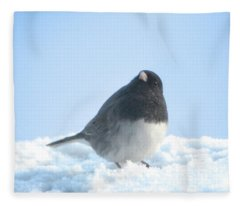Snow Hopping #2 Fleece Blanket