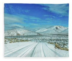 Snow In Death Valley Fleece Blanket