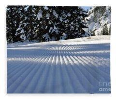 Snow Is Groovy Man Fleece Blanket
