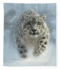 Snow Leopard - Snow Ghost Fleece Blanket