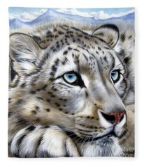 Snow-leopard's Dream Fleece Blanket