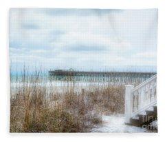 Snow On The Beach 8 Fleece Blanket