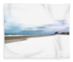 Snow On The Beach 2 Fleece Blanket