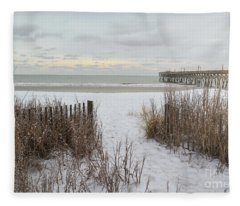 Snow On The Beach 7 Fleece Blanket