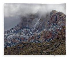 Snow On The Catalina's Fleece Blanket