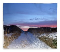 Snow On The Dunes Fleece Blanket