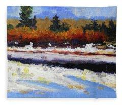 Snow River Fleece Blanket