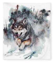 Snow Storm Fleece Blanket