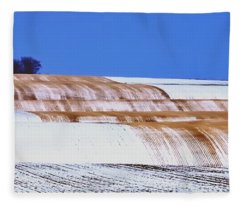 Snow Stubble Tree Line 13955 Fleece Blanket