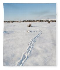 Snow Tracks Fleece Blanket