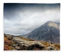 Snowdonia Welsh Mountains Fleece Blanket