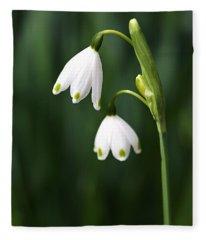 Snowdrops Painted Finger Nails Fleece Blanket
