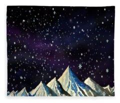 Snowfakes Fleece Blanket