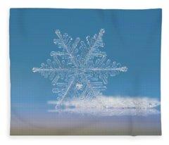 Snowflake Photo - Cloud Number Nine Fleece Blanket