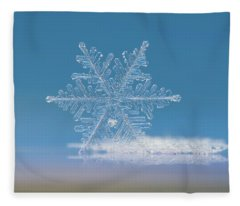 Snowflake Photo - Cloud Number Nine Fleece Blanket