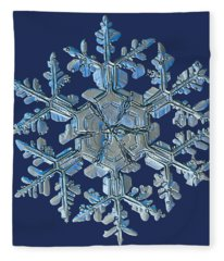 Snowflake Photo - Gardener's Dream Fleece Blanket