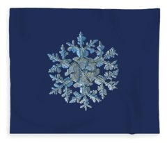 Snowflake Photo - Gardener's Dream Fleece Blanket