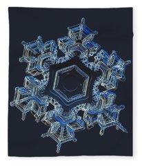 Snowflake Photo - Spark Fleece Blanket