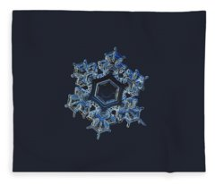 Snowflake Photo - Spark Fleece Blanket