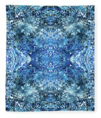 Snowflakes Of The Divine #1416 Fleece Blanket