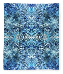 Snowflakes Of The Divine #1418 Fleece Blanket