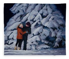 Snowfoot Waltz Fleece Blanket