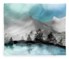 Snowy Alpine Vista Fleece Blanket