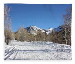 Snowy Aspen Fleece Blanket
