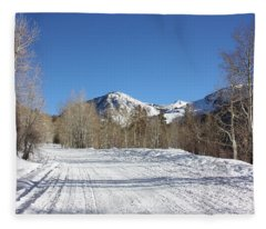 Snowy Aspen Fleece Blanket