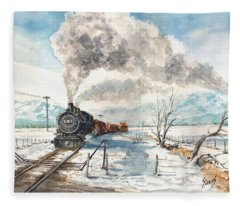 Snowy Crossing Fleece Blanket