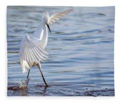 Snowy Egret 0322-111217-1cr Fleece Blanket