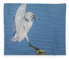 Snowy Egret 4809-112517-1cr Fleece Blanket