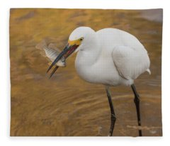 Snowy Egret 5110-112517-1 Fleece Blanket