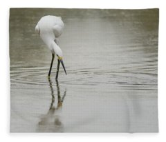 Snowy Egret 5772-112717-1cr Fleece Blanket