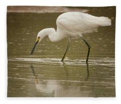 Snowy Egret Soft Reflection 5769-112717-2cr Fleece Blanket