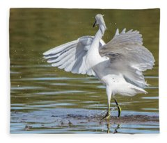 Snowy Egret Twist 1280-111317-1cr Fleece Blanket