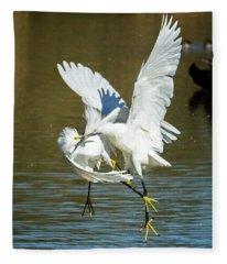 Snowy Egrets 3621-112317-2cr Fleece Blanket