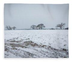 Snowy Field Fleece Blanket