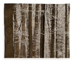 Snowy Forest Elevation Fleece Blanket