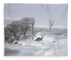 Snowy Landscape Fleece Blanket