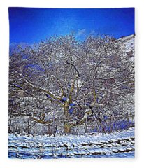 Snowy Fleece Blanket
