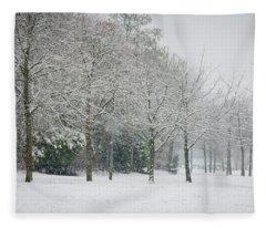 Snowy Morning Fleece Blanket
