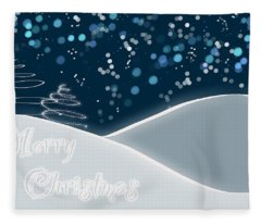 Snowy Night Christmas Card Fleece Blanket