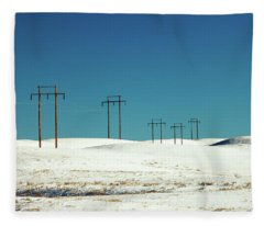 Snowy Power Fleece Blanket