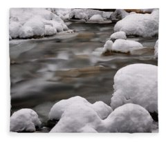 Snowy Stickney Brook Fleece Blanket