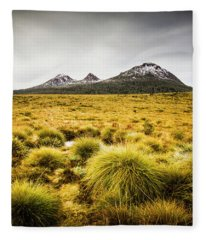 Snowy Tasmania Mountain Top Fleece Blanket